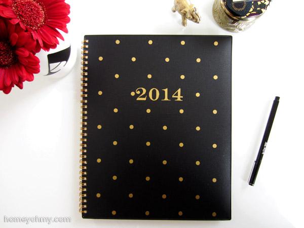 8 Golden Polka Dot Notebook Cover