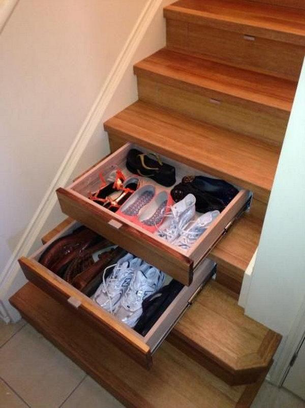 8 Instep Drawers Under Stair Storage