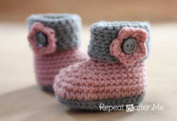 9 Crochet Cuffed Baby Booties