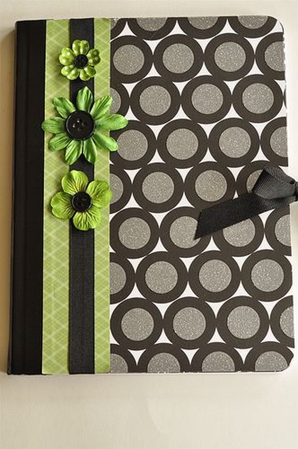 9 Cute Notebook Made with Scrapbook Paper and Decorative Duct Tape