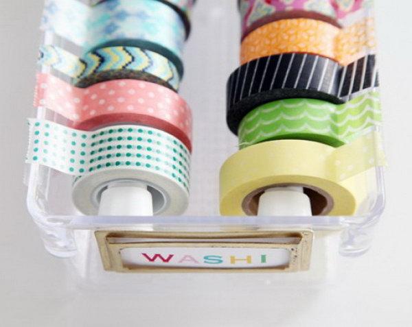 9 Plastic Drawers for Washi Tape Storage