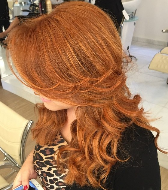 9 long curly red hairstyle