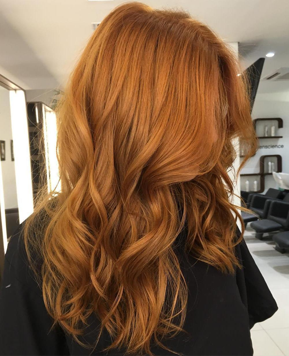 9 long wavy red hairstyle