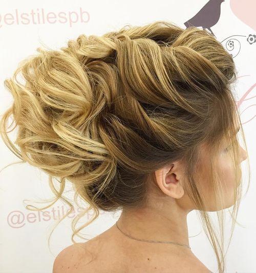 9 voluminous bridal updo for long hair
