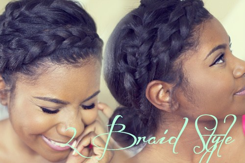 1 double braided hairstyle for black hair