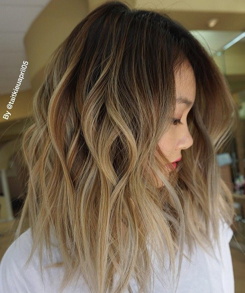 17 shaggy ombre lob hairstyle