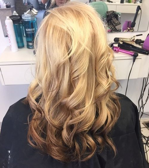 18 reverse blonde to brown ombre