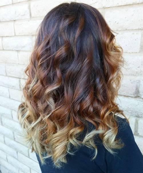 20 3color ombre for brunettes