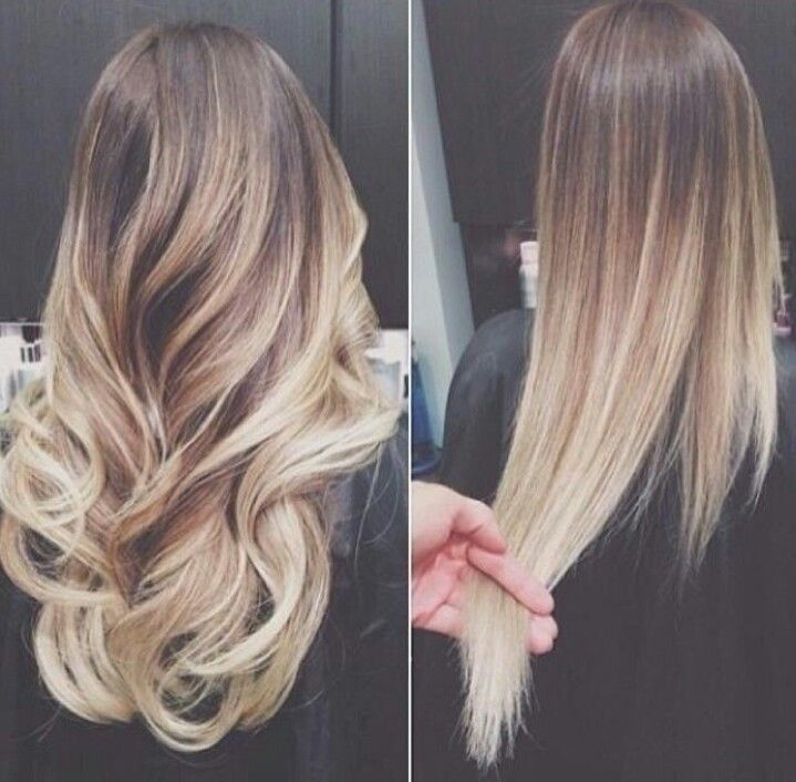 22 brown blonde ombre