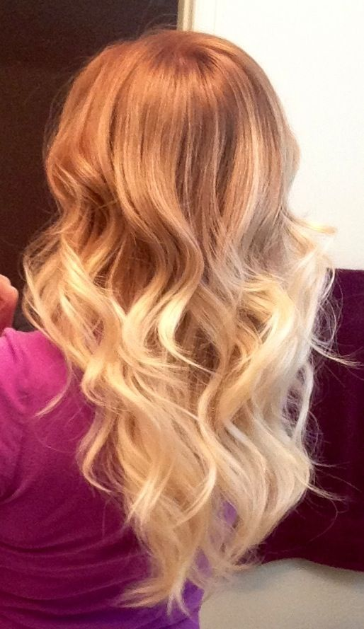 24 strawberry blonde ombre
