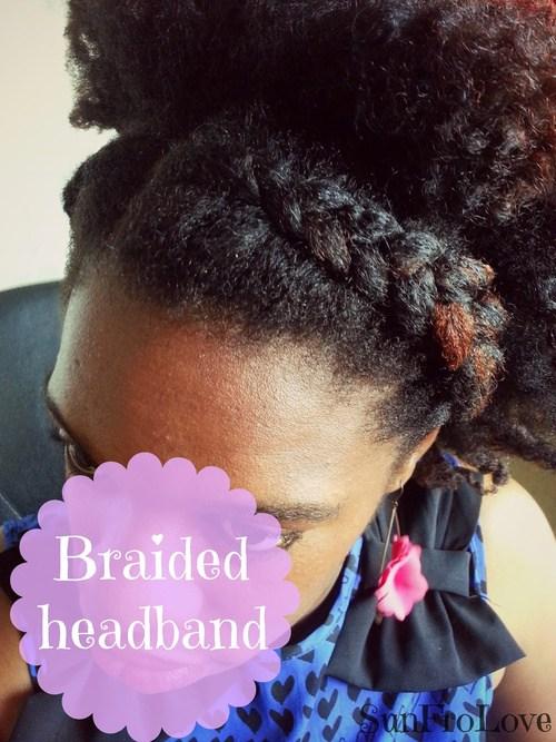 3 braided headband updo