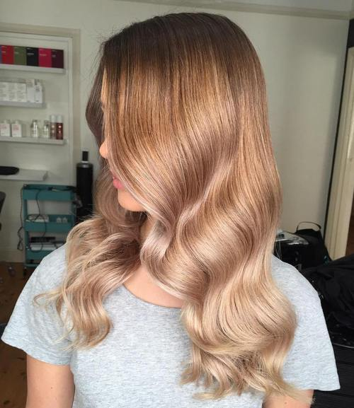 3 caramel to blonde ombre