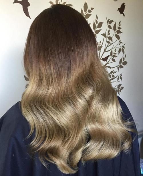 5 dark brown to dark blonde ombre