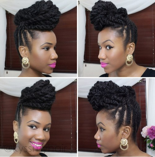 5 marley hair updo hairstyle