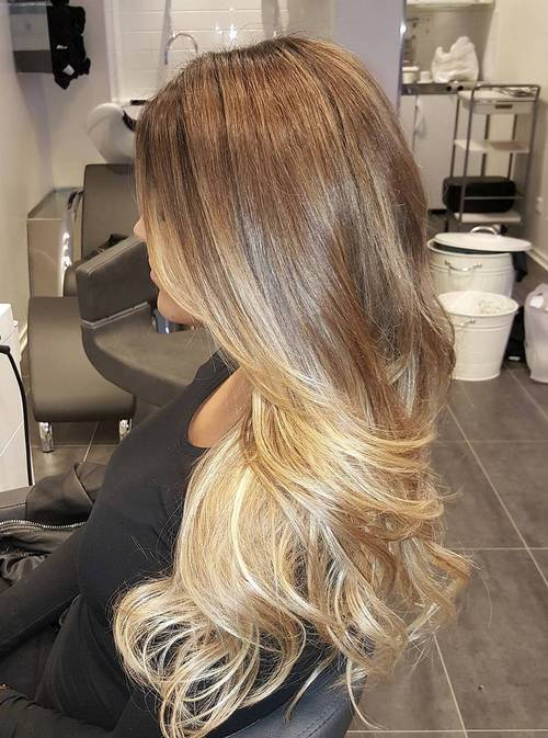6 light brown to honey blonde ombre