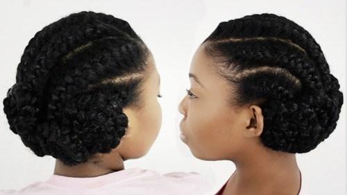 8 goddess braids black braided updo