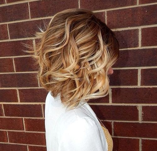 1 brown blonde curly bob