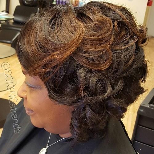 10 African American curly bob