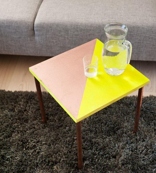 10 Rad Copper Tubing Side Table