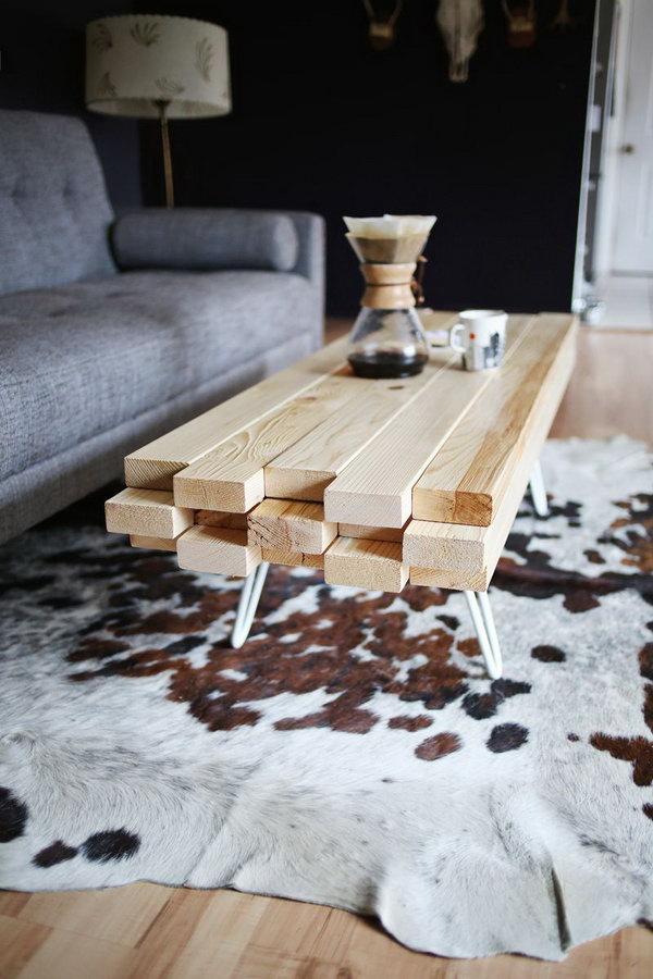 11 DIY Wooden Coffee Table