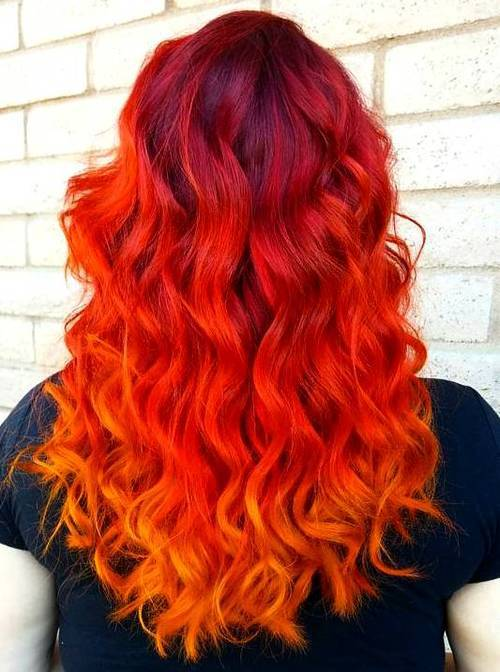 11 bright red ombre hair