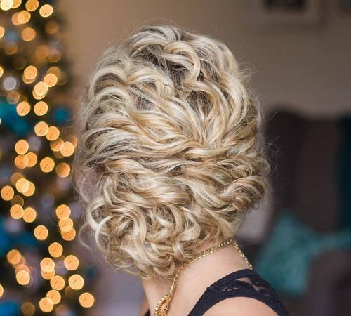 12 loose updo for curly hair