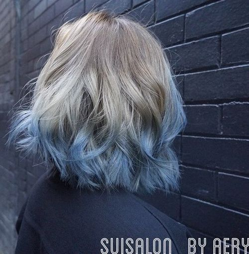 12 pastel blue ombre for ash blonde hair