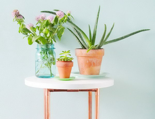 14 DIY Copper Pipe Side Table