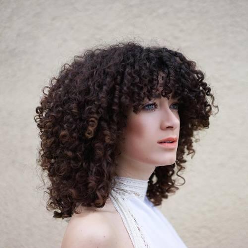 14 medium layered curly hairstyle