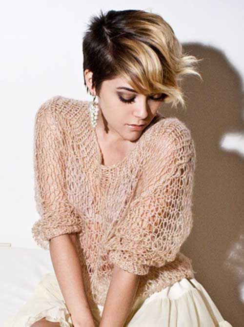 17 short hair with ombre