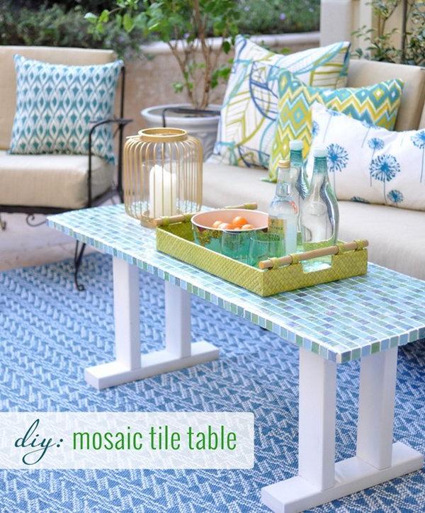 18 DIY Tile Outdoor Table