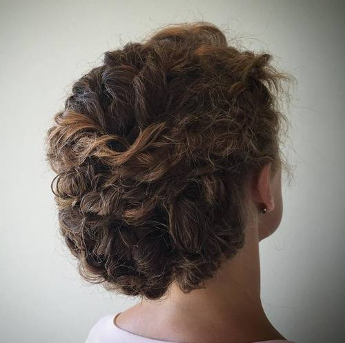 18 curly updo