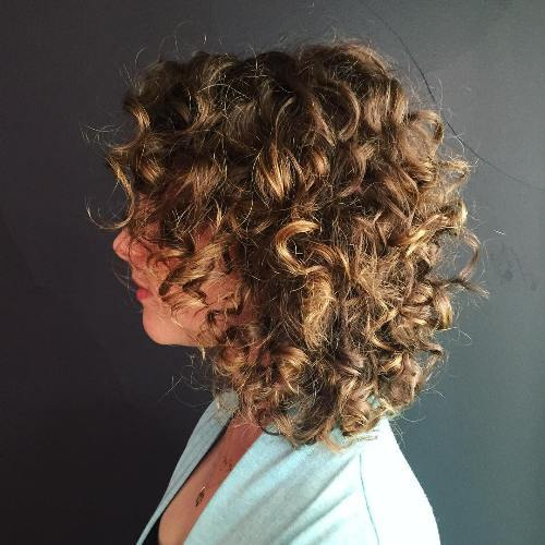 18 medium curly brown hairstyle