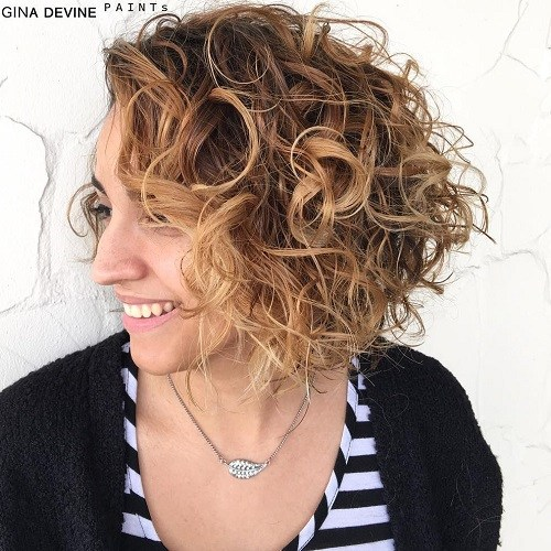 19 messy curly bob