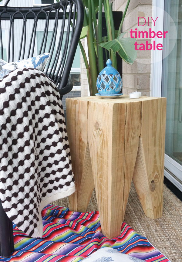2 DIY Timber Side Table