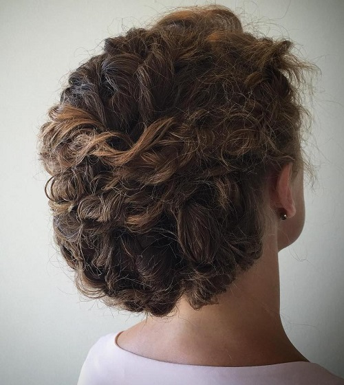 2 updo for curly hair