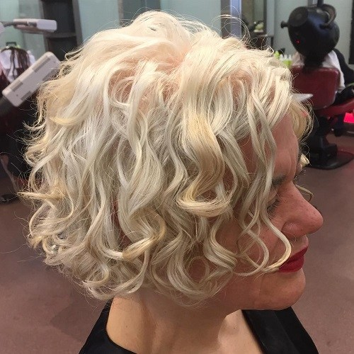 22 short curly blonde bob