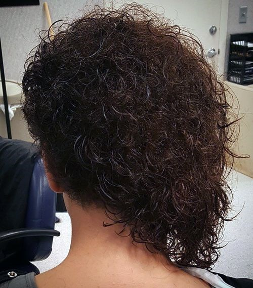 24 asymmetrical curly bob