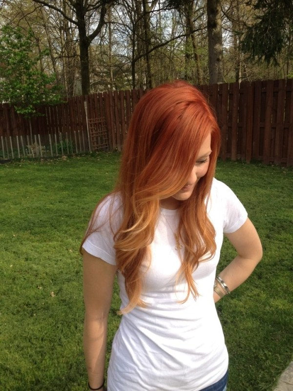 25 red ombre