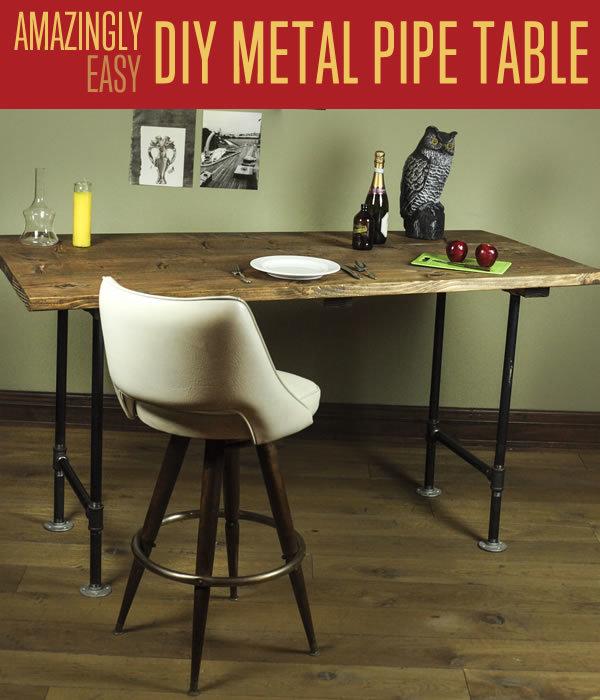3 Rustic Pipe Legs Table
