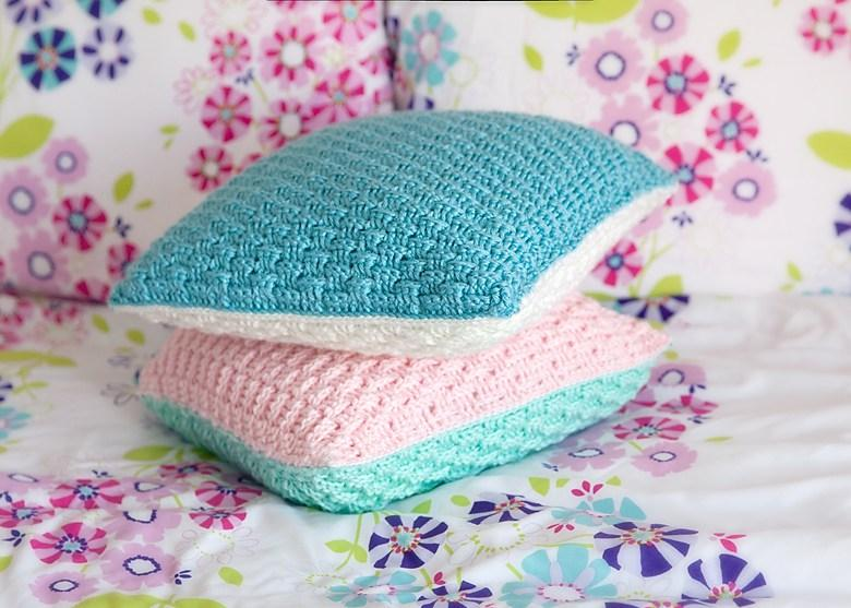 34 Two Sided Crochet Pillow Cover