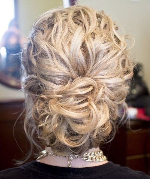 4 loose curly updo