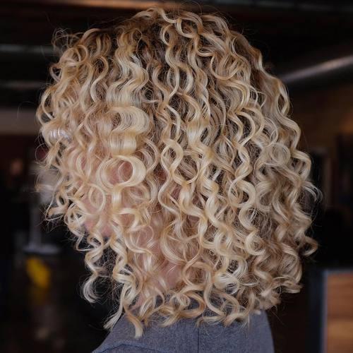 4 permed blonde lob