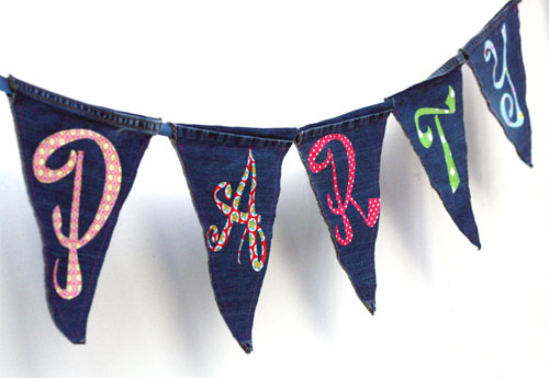 43 Make your own denim party bunting
