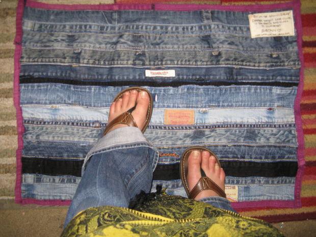 45 Make a denim floor mat