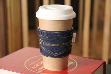 46 Make a denim coffee cozy
