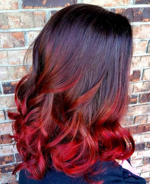 5 black to red ombre