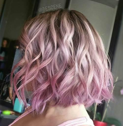 5 pastel pink ombre bob