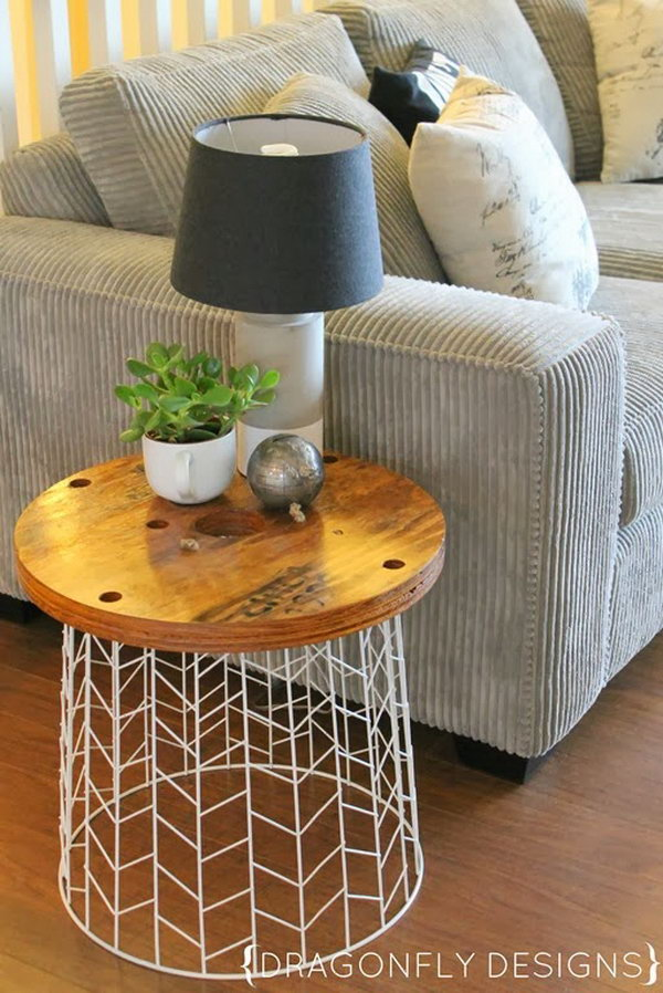 7 DIY Accent Laundry Basket Table