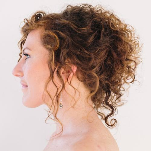 7 loose curly ponytail